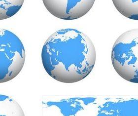 Earth Globes graphic vectors