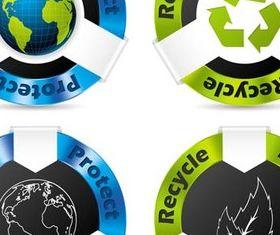 Vivid Eco Tags free vector material