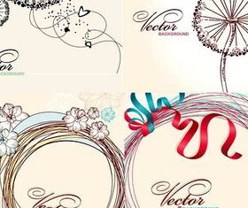 Simple fashion drawing background vector graphics