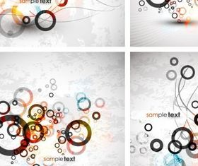 fashion circle background vector