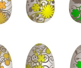 Easter Eggs free set vector