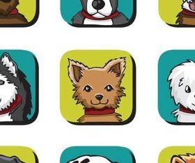 Cute Dogs art vector
