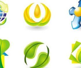 Natural Logo graphic set vector