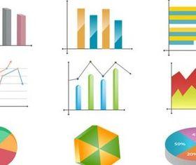 Charts Icons vectors material