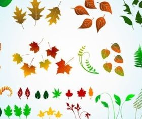 Vector Leaves Graphics vectors material