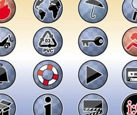 Tools Icons Buttons creative vector