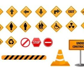 Road Direction Sign vector