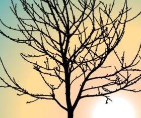 dead tree silhouette vectors