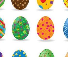 Different floral Easter Egg vector