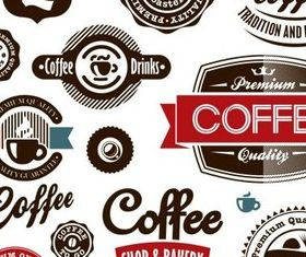 Retro Coffee Symbols vectors material