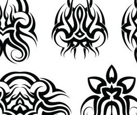 Tribal Tattoo design elements vector