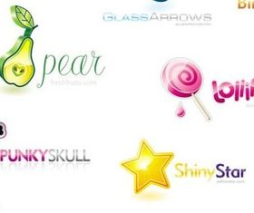 Creative colorful logos design vectors