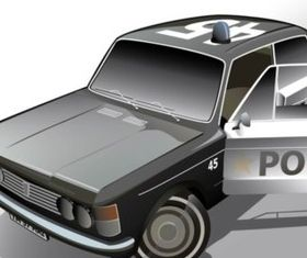 Fiat Police Car design vectors
