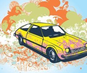 Retro Car design vector