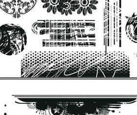 Black style Grunge Elements vectors
