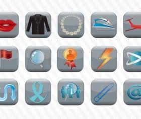 Icon Button Collection vector material