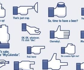 Cool Facebook Icons vector
