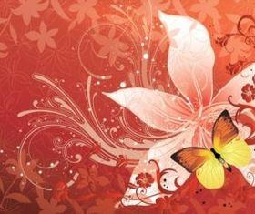 Flower Butterfly vector