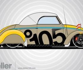 Volkswagen Beetle Graphics Illustration vector