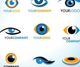 Eye Logos set vector