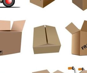 Cardboard Packing Boxes vector