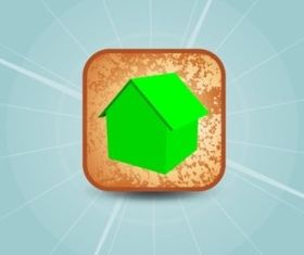 3D Home Icon vector