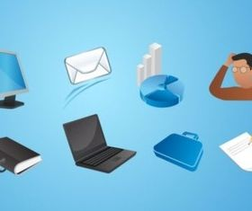 Office Icons Pack set vector