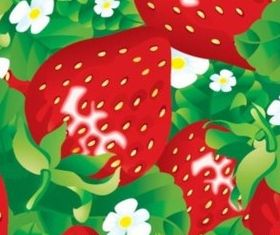 Bright strawberry background vector