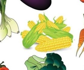 Colored vegetables free design vectors
