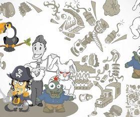 Weird Cartoons vector
