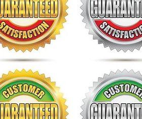 Guarantee Labels design vector