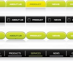 Website navigation buttons elements vector material