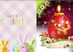 Shiny Easter Backgrounds design vector