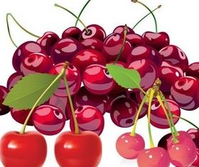 Vivid cherry vector material