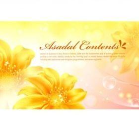 Fantasy flower background set vector