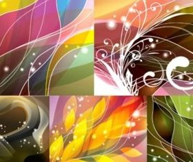 Special dazzling dynamic flow background vector