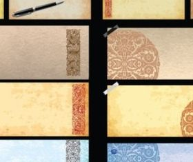 Vintage paper effect background vector graphics