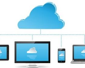 Computer and Clouds Icons vector