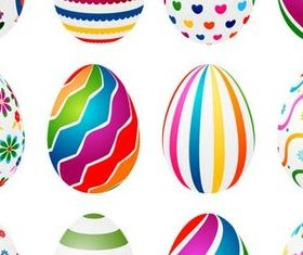 Abstract Shiny Easter Eggs vector graphic