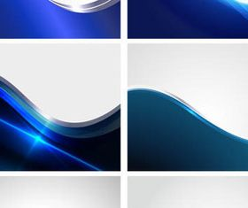 Bright Blue Wave backgrounds vector graphics
