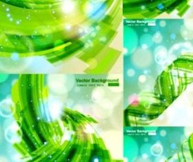 green movement illusion glare background design vector