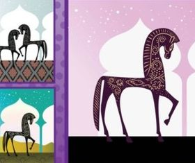 Arabian Horses vector graphics