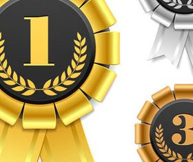 Creative Award set vector