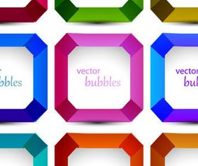 Cute colored bubbles vector