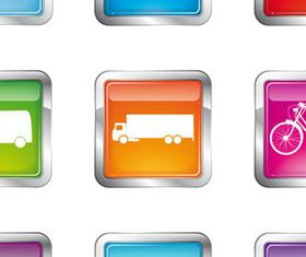 Shiny Transport Icons vector graphic