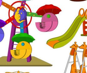 Cute Carousel with toy vector