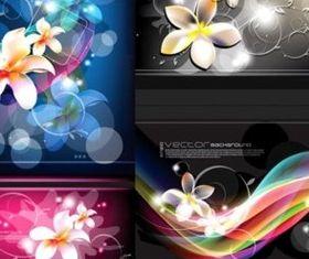Bright fantasy flower background vectors