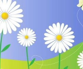 Daisy Flowers vector graphic