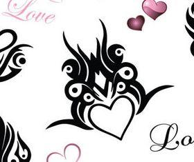 Hand drawn Hearts symbol vector