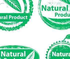 Green Natural Product Emblems vector